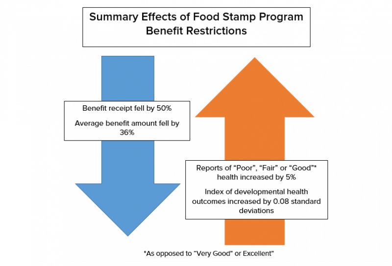 Summary Effects of Food Stamp Program Benefit Restrictions