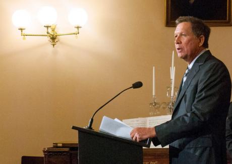 Image of Ohio Governor Defies G.O.P. With Defense of Social Safety Net