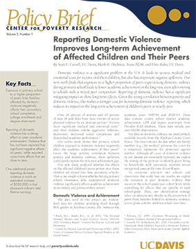 research paper on effects of domestic violence on children Children and domestic violence exposure children are exposed to or experience domestic violence in many ways long-term effects of domestic violence on children.