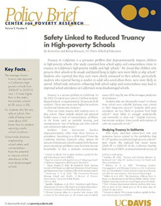 Image of Download Brief on Truancy in High-poverty Schools