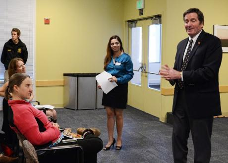 Congressman John Garamendi speaks at an ELIPPS event.
