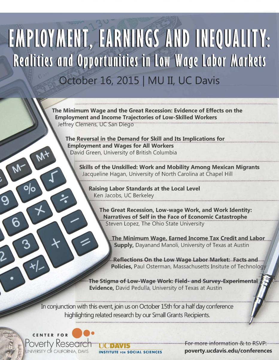 employment earnings and inequality realities and opportunities employment earnings and inequality realities and opportunities in low wage labor markets