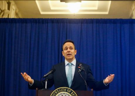 Kentucky governor at press conference