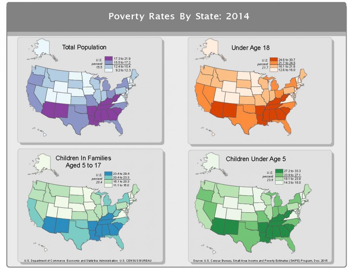 Right To Work States Map 2016.Small Area Income And Poverty Estimates Saipe Uc Davis Center