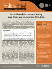 Image of Download State Health Insurance Policy and Insuring Immigrant Children